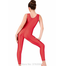 fecb4c0cc78 Plus Size Leotard Bodysuit Australia - Women s Fitness Sports unitard  Spandex Yoga jumpsuit sleeveless catsuit Bodysuit
