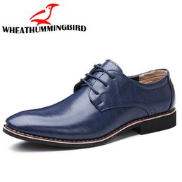 $enCountryForm.capitalKeyWord Australia - 2019 big size 48 New Men Wedding formal dress men flats Lace-Up Bullock Oxfords Leather Shoes British Black Blue Shoes LK-04