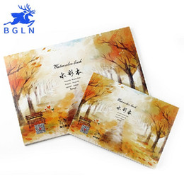 Kids Painting Book Australia - Free Shipping Bgln A3 A4 A5 Size 230g m2 Professional Watercolor Paper 20Sheets Hand Painted Watercolor Book Drawing Office school supplies