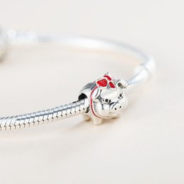 $enCountryForm.capitalKeyWord Australia - New Authentic Real 925 Sterling Silver Cute Pig Charms Fit Pandora Bracelet