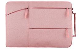 $enCountryForm.capitalKeyWord NZ - Fashion Unisex Laptop Cases Designer Solid Color 11-15 inch Black Gray Pink Dark Blue Portable Notebook Bag