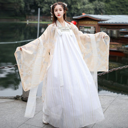 oriental chinese dress Australia - Woman Hanfu Chinese Style Tang Dynasty Fairy Elegant Dress Oriental Embroidery Stage Dance Costume Festival Party Wear