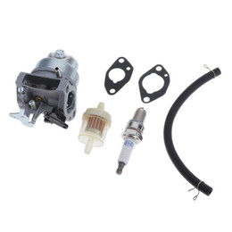 honda engines parts UK - Carburetor with Spark Plug Kit For Honda GCV160, GCV160A, GCV160LA, GCV160LA0, GCV160LE Engine Carb Replacement Parts