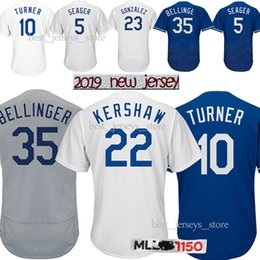 7d9e7671d Los Angeles jerseys Dodgers 22 Clayton Kershaw 18 19 jersey 10 Justin Turner  5 Corey Seager 66 Yasiel Puig Best selling Jersey