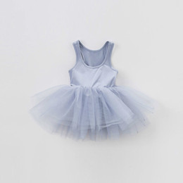 newborn baby girl princess clothing NZ - Newborn Dresses 1 Year Birthday Ball Gown Tulle Toddler Kids Infant Princess Party Dress Baby Girl Clothes Q190518