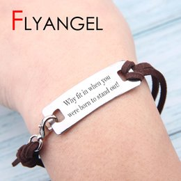 $enCountryForm.capitalKeyWord Australia - High Quality Lettering Woman Man Summer Bracelet Adjustable Beach Party Jewelry Beautiful Stainless Steel Accessories Delicate