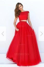 Taffeta Wrap Jacket UK - Ball Gown Off-the-shoulder Floor-length Tulle Prom DressE28