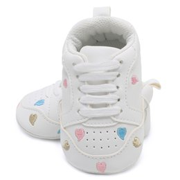 newborn baby leather moccasins 2019 - Baby Shoes First Walkers Leather Heart Star Pattern Baby Shoes Newborn Girls Lace Up PU Sneakers 0-18 Months Moccasins G