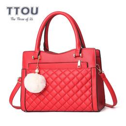 $enCountryForm.capitalKeyWord Australia - TTOU Fashion Designer Luxury Women Handbag with Hair Ball Quality Leather Female Shoulder Bag Casual Ladies' Top-handle Bag