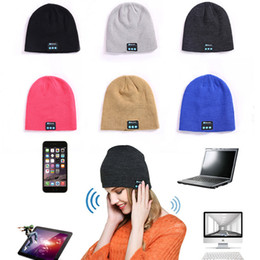 bluetooth beanies Australia - Free DHL 6 Colors Knit Bluetooth Beanie Cap Unisex Winter Warm Hat Wireless Smart Caps Headset Speaker Microphone Handsfree Music Hats M641F
