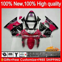 kawasaki zx6r 1999 fairing body Australia - Body For KAWASAKI ZX-6R 6 R ZX-636 ZX600 ZX600CC 98 99 39HC.20 red black hot 600CC ZX636 ZX6R 98 99 ZX 636 ZX 6R 1998 1999 Full Fairing kit