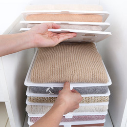 $enCountryForm.capitalKeyWord Australia - 10Pcs Fast Clothes Fold Board Clothing Organization System Shirt Folder Travel Closet Drawer Stack Household Closet