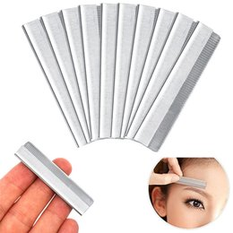 shaper hair UK - 2020 Brand New 10Pcs set Eyebrow Razor Trimmer Blade Facial Knife Blade Hair Removers Shaper Tool Professional Make Up Tools