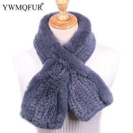 $enCountryForm.capitalKeyWord Australia - wholesale Winter Women Scarf Vintage Handmade Knit Lady Thickening Warm Neck Scarves Genuine Rex Rabbit Fur Female Luxury Scarf