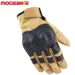$enCountryForm.capitalKeyWord Australia - 2019 New Touch Screen Real Leather Motorcycle Full Finger Gloves Protective Gear Outdoor Sports Racing Motocross ATV