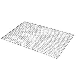 stainless steel flat grill NZ - Barbecue Meshes Square Shape Stainless Steel Barbecue Net Disposable Grill Net Outdoor BBQ Baking Rack Carbon Mesh Grill Pad T200506