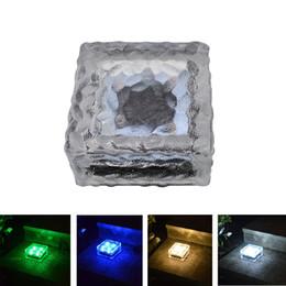 Güneş buz tuğla LED Işıklar - Yol Bahçe Peyzaj Accent aydınlatma, Beyaz, su geçirmez, Açık manzara ışık Soğuk