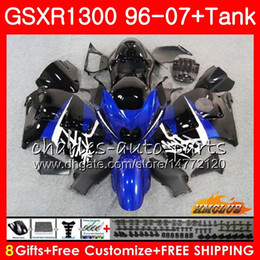 $enCountryForm.capitalKeyWord Australia - Body For SUZUKI Hayabusa GSXR 1300 GSXR1300 96 97 98 99 00 01 07 24HC.47 GSX R1300 1996 1997 1998 1999 2000 2001 2007 blue black hot Fairing