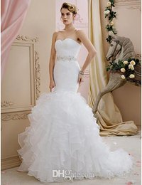 Man Made Dresses Australia - Mermaid Wedding Dresses New Design First Class cocktail party dresses Brides Dresses Chinese Factory High Standard Man Made