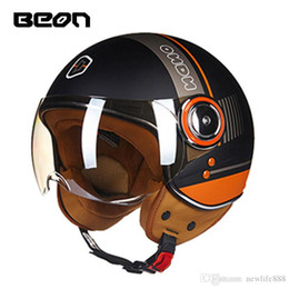 Woman Half Face Helmet Australia - Free Shipping BEON B-110B Men Women motocross half face Helmet motorcycle MOTO electric bicycle safety headpiece