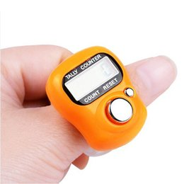 row counter electronic Australia - LANDFOX Digit Digital LCD Electronic Golf Finger Hand Ring Knitting Row Tally Counter TALLY Pedometer Random Color DropShipping