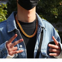 rappers chains NZ - 12MM Cuban Link Chain Luxury Mens Necklace Hip Hop Jewelry Men Designer Iced Out Gold Silver Rapper Chains Statement Necklaces Fashion Boy