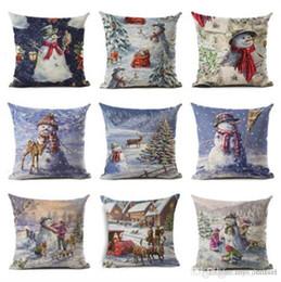 $enCountryForm.capitalKeyWord Australia - Merry Christmas Throw Pillowcase Santa Claus Tree Deer Cushion Covers Happy New Year Home Decor Pillow Case 2018 Xmas