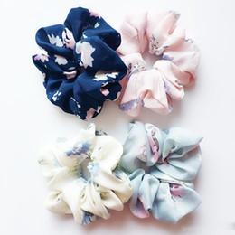 Discount christmas tie designs - 18 style Floral Flamingo Headband Design Women Hair Tie Accesorios Scrunchie Ponytail Hair Holder Rope scrunchy basic Ha