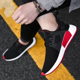 Popular Casual Shoes For Men Australia - 2019 Fashion Hot Sale Popular casual shoes for men High Quality Fashion Comfortable Brand Breathable Male Shoes Gray Red black sneakers