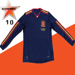 $enCountryForm.capitalKeyWord Australia - Long Sleeve 2010 Spain Soccer Jerseys Retro football Shirt Vintage Classic Collection uniform #9 TORRES #8 XAVI # 6 A.INESTA #7 DAVID VILLA