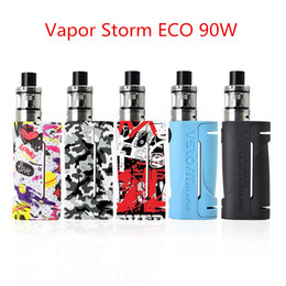 rda starter kit UK - Vapor Storm ECO Starter Kits 90W battery 2.0ml 0.3ohm Tank Graffiti Box Mod 510 Drip Tip Support RDA Vaporizer 100% Original