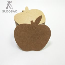 $enCountryForm.capitalKeyWord Australia - 6*6cm Flower 300g High-grade kraft paper blank label apple shape small label bookmark cardboard DIY Gift Box Pendant 100pcs lot