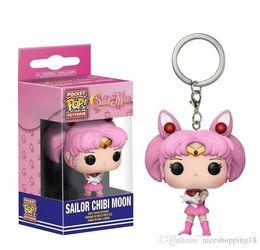 $enCountryForm.capitalKeyWord Australia - Discout New wholesales price Funko Pocket POP Keychain - Sailor Chibi Moon Vinyl Figure Keyring with Box Toy Doll Gift Good Quality t603