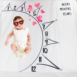 cartoon baby background Australia - Baby Cartoon Digital Background Blanket Newborn Photographed Props Carton Swaddle Wrap Creative Baby 100*100CM