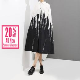 Wholesale white midi dresses resale online – Ladies Dresses Plus Size Dress Women Summer Style Loose White Shirt Dress Long Sleeve Print Female Party Midi Casual Dresses Hooded