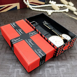 Wholesale Boxes Packaging Australia - 1pc love rectangle shape watch packaging carton gift box jewelry accessories box