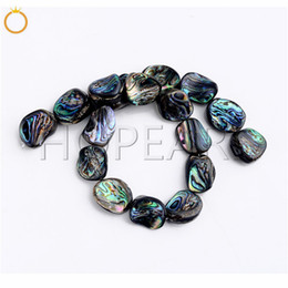 Shaped Coral Beads Australia - Natural Abalone Shell Semi Precious Gemstone Strand DIY Loose Paua Beads for Jewelry Making Freeform Irregular Shape