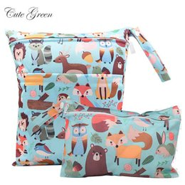cloth bags for diapers NZ - Waterproof Reusable Wet Bag For Nursing Menstrual Pad Baby Cloth Diaper Nappy Travel Wetbag Maternity Diaper Bag 30*36 15*22.5cm
