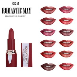 dark plum lipsticks NZ - Batom Waterproof Lipstick Matte Waterproof Long Lasting Professional Makeup Long Lasting Matte Nude Lipsticks Batom