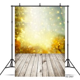 background paintings NZ - Gradient Gold Glitter Shimmer Bokeh Photo Background Vinyl Cloth Backdrop for Portrait Children Baby Shower Photography Props