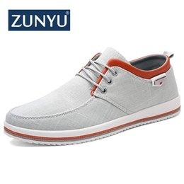 $enCountryForm.capitalKeyWord Australia - ZUNYU New Arrival Spring Summer Comfortable Casual Shoes Mens Canvas Shoes For Men Lace-Up Brand Fashion Flat Loafers Shoe