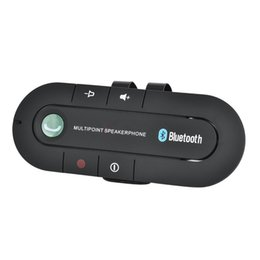 $enCountryForm.capitalKeyWord UK - Bluetooth Handsfree Car Kit Wireless Bluetooth Receiver Speaker Phone MP3 Music Player Sun Visor Clip Speakerphone with Car Charger