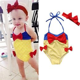 Baby Girl Summer Suits Australia - Baby Girls Princess Swimwear Cute Toddler Bow Bikini Suit Kids Summer Swimsuit Fashion Kids Dots Bathing Clothes 40