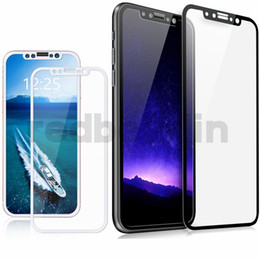 3d Glasses For Iphone Australia - 3D Full Tempered Glass for iphone 5 6 7 8 x Screen Protector Film 3D Carbon Fiber soft edge For iphone X 8 6 7 plus