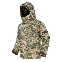Army combAt coAt online shopping - Jackets Men Winter Thermal Waterproof Windproof Tactical Coats Windbreakers Combat Camo Army Hoodies Clothing PLY