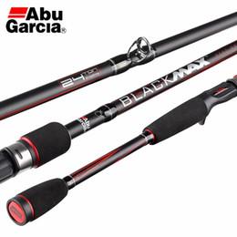 Brand Fishing Lures Australia - Original Abu Garcia Brand Black Max BMAX Baitcasting Lure Fishing Rod 1.98m 2.13m 2.44m M Power Carbon Spinning Fishing Stick