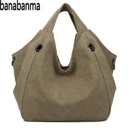 $enCountryForm.capitalKeyWord Australia - Banabanma Women Handbag Soft Canvas Fashionable Satchel Bag Large Capacity Portable Single-Shoulder Bag Handbags for Women ZK40