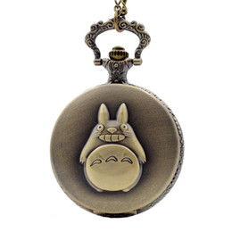 Watch Man Movie Australia - My Neighbor Totoro Japanese Animated Film Movie Totoro Dial Quartz Pocket Watch Necklace Men Women Boy Girl Pocket Fob Watch