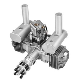 $enCountryForm.capitalKeyWord Australia - New RCGF 70cc Twin Cylinder Petrol Gasoline Engine Dual Cylinder with Muffler Igniton Spark Plug for RC Model Airplane