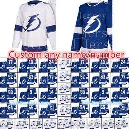 2018 New Tampa Bay Lightning Custom Jersey Men s  77 Victor Hedman 24 Ryan  Callahan 40 Dumont 5 Girardi 88 Vasilevskiy Hockey Jerseys 4cd8437d0